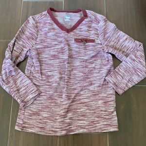 • Old Navy v-neck maroon colored shirt, 5T •